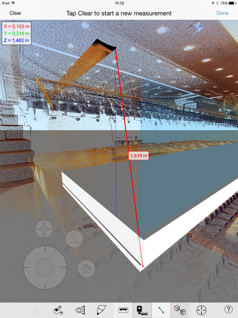 BIM 360 Layout Measure point cloud Revit model ipad