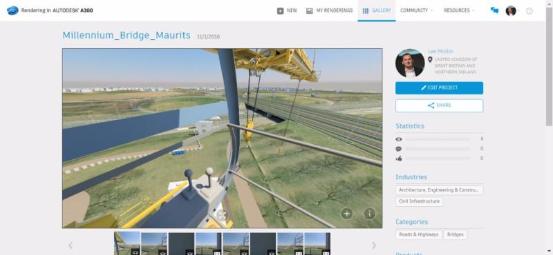 A360 rendering cloud construction crane visibility health safety navisworks infraworks bridge
