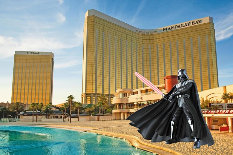 Autodesk University 2014 Mandalay Bay Star Wars Darth Vader Las Vegas #empirebimcrew