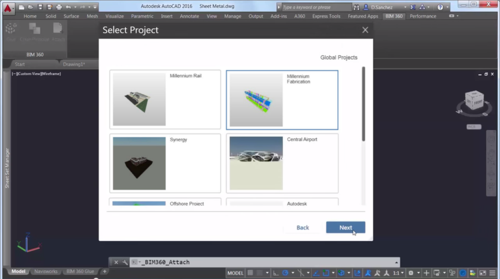 AutoCAD 2016 BIM 360 Glue Open project NWD Navisworks