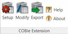 Revit COBie Exporter Extension setup modify export